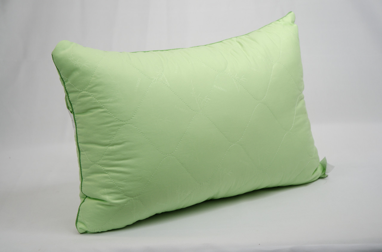 "Подушка 50х70 микрофибра зеленая ""Бамбук"""