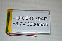 Универсальный аккумулятор (АКБ, батарея) 3.7V 3000mAh (4.0*57*94mm)