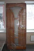 Дверной блок Элит класса, в массиве ясеня, со стеклом, фурнитурой (Д-13)
