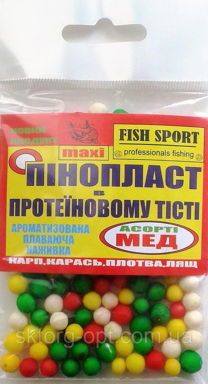 Пенопласт в тесте Fish Sport Мед ассорти maxi