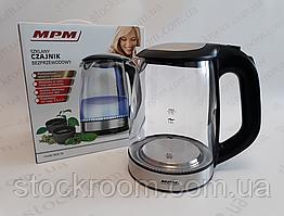 Электрочайник стеклянный MPM 1.7 л
