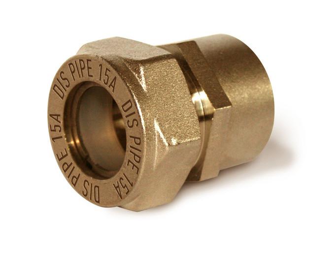 Соединение для гофрированной трубы 15х1/2 мама-мама Dispipe
