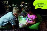 """Планшет """"Рисуй светом"""" для творчества детей в темноте рисуем А3, фото 2"""