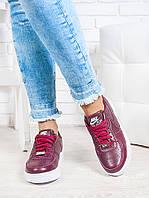 Кроссовки Nike AIR бордо кожа 6337-28