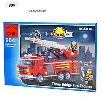 Конструктор Brick 904  Пожарная охрана 364 дет , в разобр., кор.35*26*5,5см
