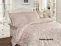 Комплект постели евро Sweta Pudra сатин