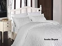 Комплект постели евро Sweta Beyaz сатин
