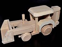 Деревянная игрушка трактор, фото 1