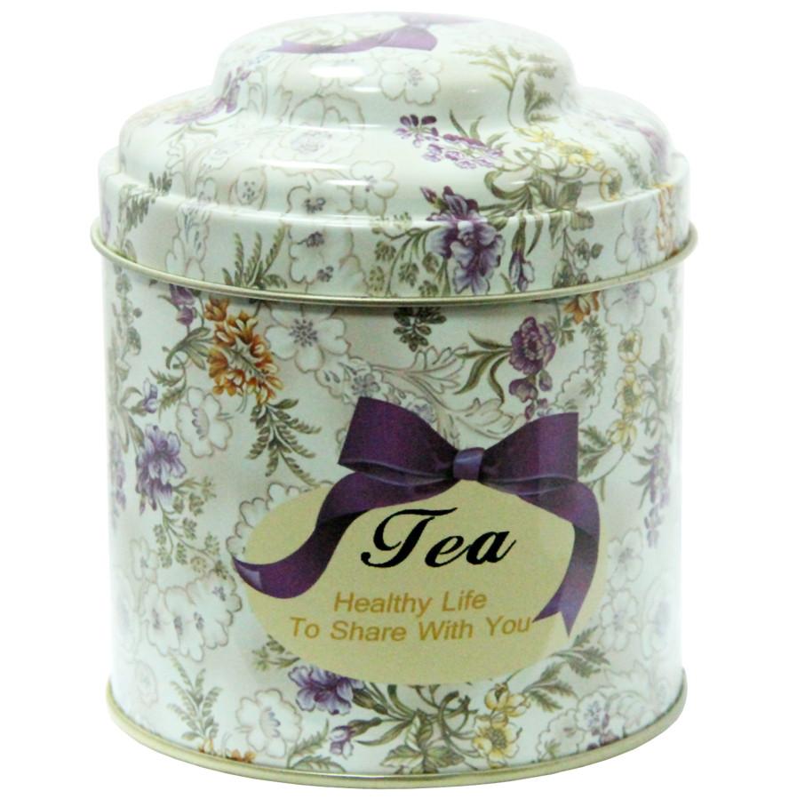 Кухонная банка для чая Цветочное ассорти Чай-Прованс, 11х9 см, 200г ( жестяная банка )