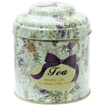 Кухонная банка для чая Цветочное ассорти Чай-Прованс, 11х9 см, 200г ( жестяная банка ), фото 2