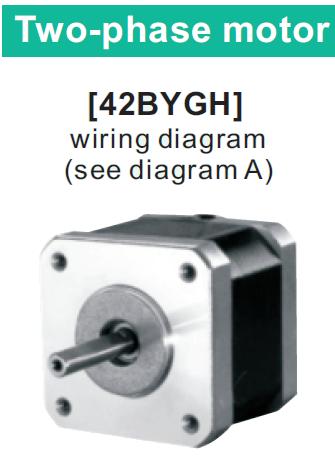 42BYGH038 двухфазный шаговый двигатель