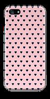 Чехол дляiphone 5 / 5s / 5se сердца на розовом фоне