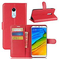 """Чехол для Xiaomi Redmi 5 Plus 5.99"""" книжка кожа PU красный"""