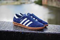 """Мужские кроссовки Adidas Originals Hamburg """"Deep Blue"""""""