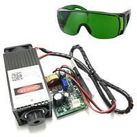Мощный лазер для резки гравировки 5.5Вт 450нм TTL + защит. очки