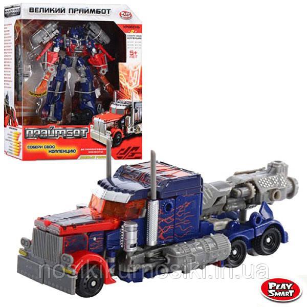 Трансформер робот + машина, трансформер Оптімус Прайм, серія Великий Праймбот