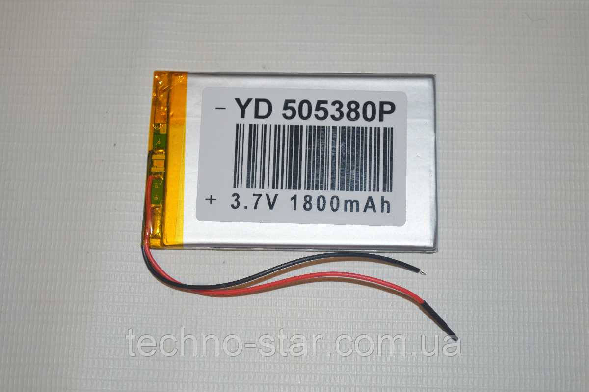Универсальный аккумулятор (АКБ, батарея) 3.7V 1800mAh (5.0*53*80mm)