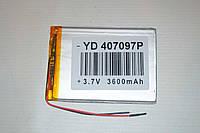 Универсальный аккумулятор (АКБ, батарея) 3.7V 3600mAh (4.0*70*97mm)