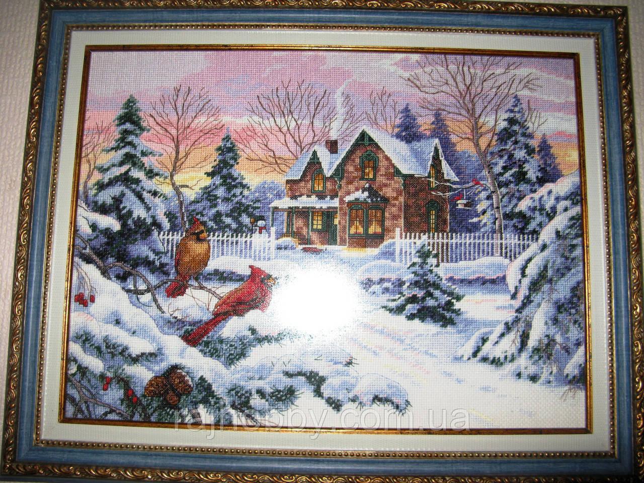 Картина вышитая крестом Зимние воспоминания Dimensions Winter Memories