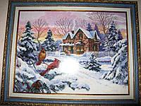 Картина вышитая крестом Зимние воспоминания Dimensions Winter Memories, фото 1