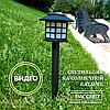"""Садовый светильник на солнечной батарее """"Домик"""" 1LED белый CAB121 (типа Feron PL249, Lemanso CAB81)"""