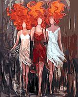 Картина анти стресс по цифрам Огненное трио