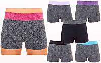Шорты женские короткие для фитнеса 08260 (женские спортивные шорты): размер M-L, 6 цветов Однотонный черный