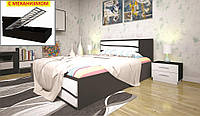 Кровать ТИС ЕЛІТ 2 (ПМ ) 140*190 сосна