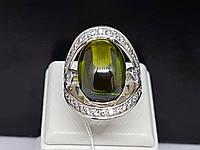 Срібне кільце з кабошоном. Артикул КВ821с 18,5, фото 1