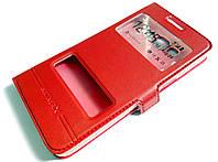 Чехол книжка с окошками momax для Samsung Galaxy Grand Prime G530h красный