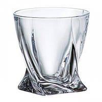 Набор стаканов для виски Bohemia QUADRO 340 мл (Богемское стекло)