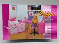 Мебель для кукол Глория Gloria 96014 Офис для Барби, ксерокс, офисный стол, компьютер