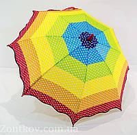 """Детский зонтик в горошек на 5-10 лет от фирмы """"Luky Rain"""", фото 1"""