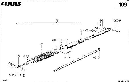 ЦИЛИНДР ЖАТКИ, VAR. 3820 - CLAAS DOMINATOR 38