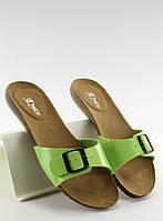 03-29 Зеленые женские босоножки с пряжкой IR-283 39,38,36,37, фото 1