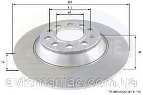 Диск тормозной AUDI A6 08-11 задний. (D=302mm) Гарантия