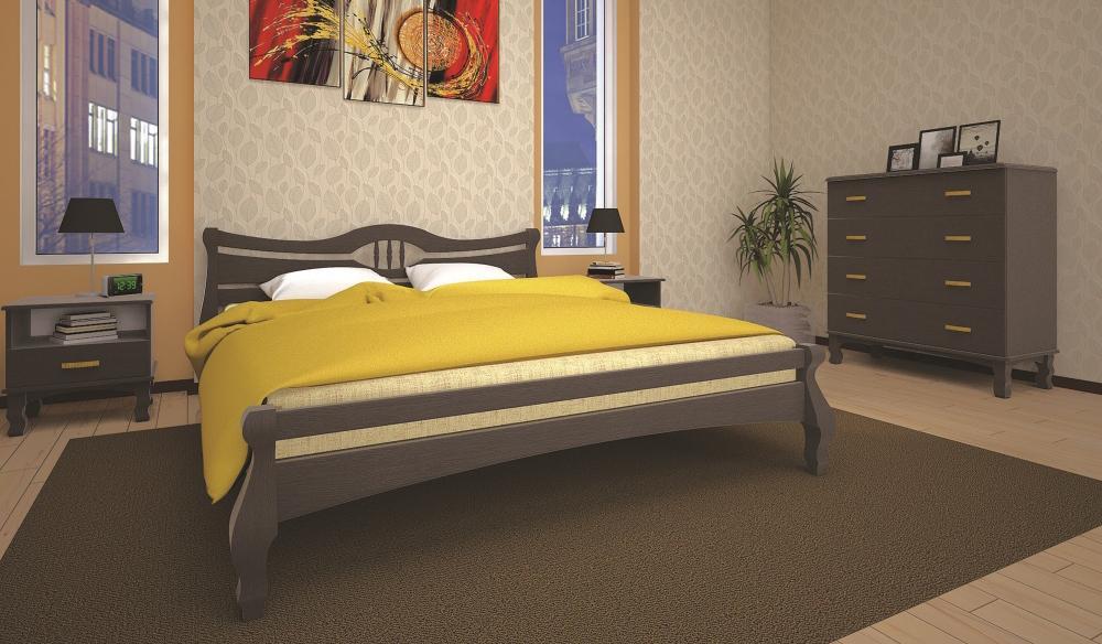 Кровать ТИС КОРОНА 1 180*200 дуб