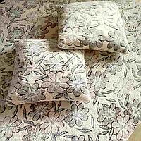 Комплект из микрофибры на полуторную кровать,цветы