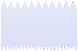 Скребок двухсторонний зубчастый 110*70мм(шт)