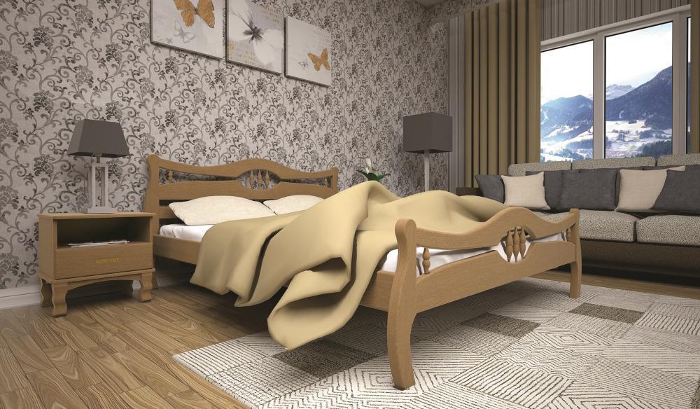 Кровать ТИС КОРОНА 2 160*200 дуб