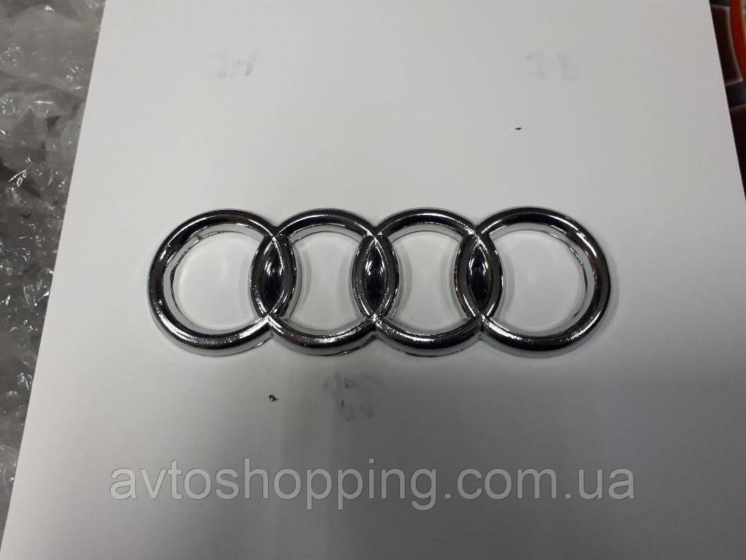 Значок эмблема на багажник Audi 140*48 мм, Audi 80,81,85, B2, 1985-1989, фото 1