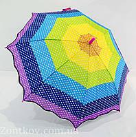 """Детский зонтик в горошек на 5-10 лет от фирмы """"Luky Rain"""""""