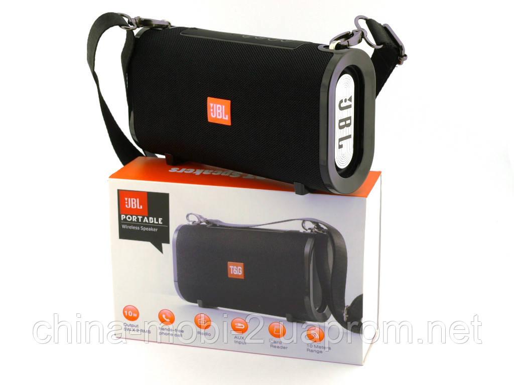 JBL T&G123, Bluetooth колонка 10W c FM MP3, реплика, черная