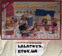 Мебель для кукол Глория Gloria 9877 Веселый детский сад паравозик, доска, стулья, аксессуары
