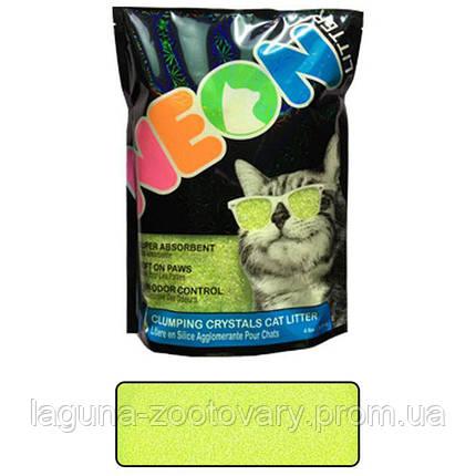 Neon Litter Clump НЕОН комкующийся кварцевый наполнитель, неоновый зеленый, фото 2