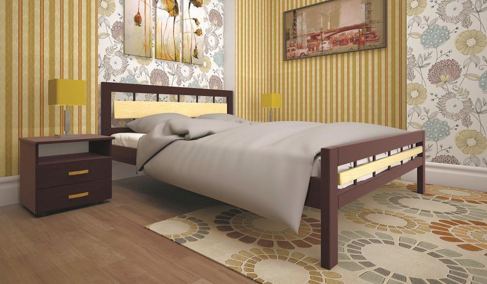 Кровать ТИС МОДЕРН 3 180*200 бук