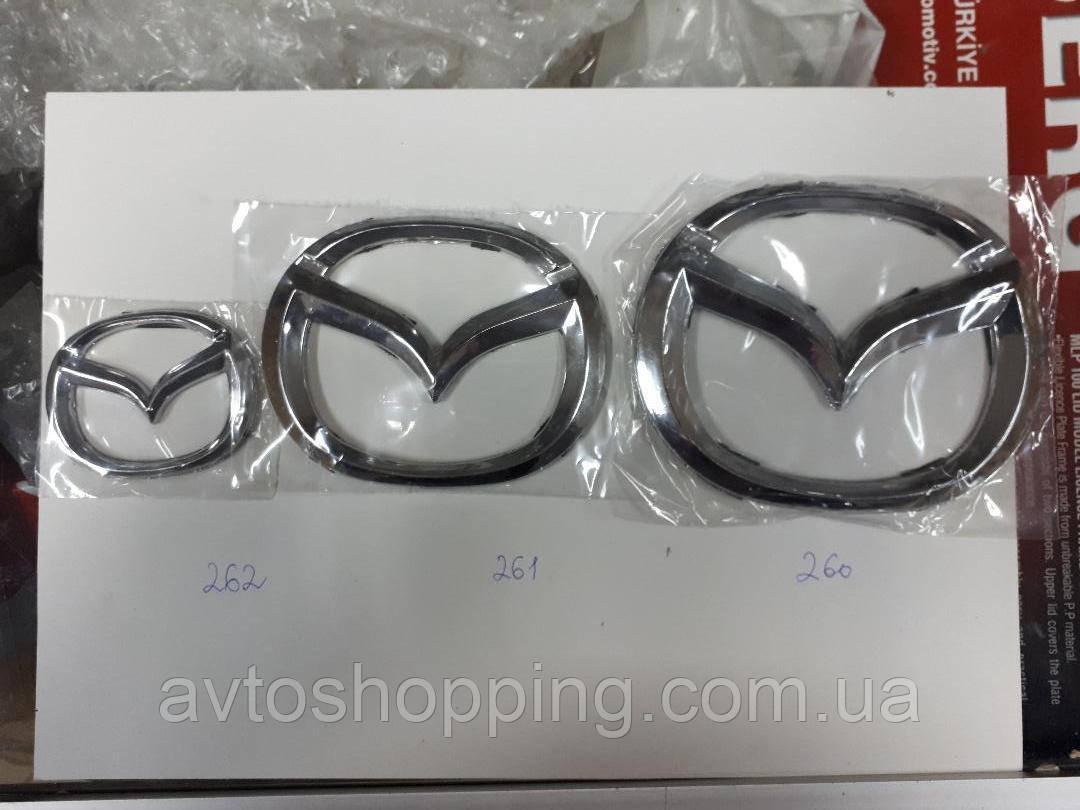 Значок эмблема на багажник Mazda 323 - 626, 125*100 мм