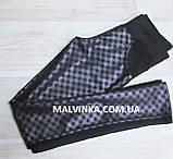 Женские лосины с принтом 42-52 р черные арт 18-50., фото 3