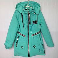"""Куртка подростковая демисезонная """"Andinaisi"""" #8731 для девочек. 10-11-12-13-14 лет. Голубая. Оптом., фото 1"""