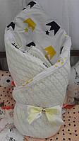 Вязаный конверт-одеяло на выписку